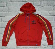 Adidas track jacket RASTA hoodie marley reagge hooded red M medium Men RARE !!!