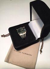 David Yurman Sterling Silver Diamond Wheaton Ring 16x12mm Prasiolite