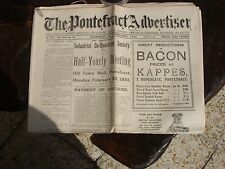 OLD PONTEFRACT NEWS PAPERS THE PONTEFRACT ADVERTISER 1934-35-36-37 ISSUED WEEK