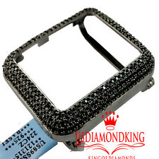 14K Black Gold Over Silver Apple Series #1 Black Cz Watch Case 42MM Sport Bezel