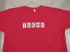 TWEAK Dotted Font T-SHIRT Mens 2XL Red Box Letters Type Tweaker South Park Meth