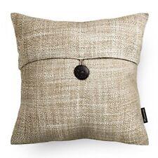 """Throw Pillow Case Cover Set 2 Button Beige Decor Sofa Home Gift 18"""""""