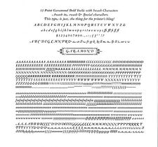 New Letterpress Type Garamond Bold Italic With Swash