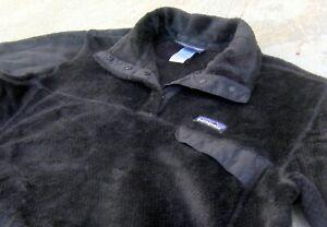 PATAGONIA Re-Tool Snap-T pullover fleece Jacket women's Sz XL Black