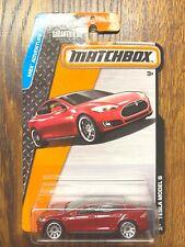 Matchbox Tesla Model S red