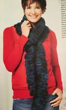 KNITTING PATTERN Ladies Beaded Wrap Neck Scarf Colinette Mohair PATTERN