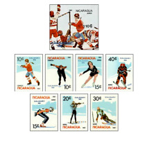 NIC8701 Winter Olympics Calgary series 7 items and block