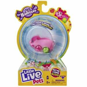 Little Live Pets Lil' Hamsters Series 1 - Pink Strawbles with Sound and Movement