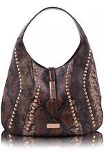 Colette Green - Hobo Handbag Faux Snakeskin Taupe