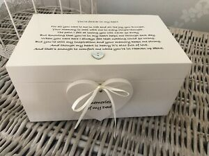 Personalised Memory Box In Memory Of Dad / Loved One Any Name Shabby Chic