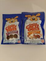 CANINE CARRY OUTS DOG TREATS SNACKS BURGER MINIS & BACON CHEESE FLAVOR 5 OZ BAGS