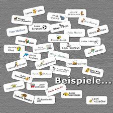 54 Selbstklebende Namensetiketten-Namensaufkleber-Namensschilder für Kleidung-