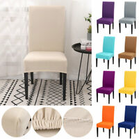 4/6PCS/SET Dining Chair Covers Spandex Slip Cover Stretch Wedding Banquet Party