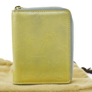 Auth Louis Vuitton Vernis Bloom M91044 Patent Leather Wallet (bi-fold) G 03FB857