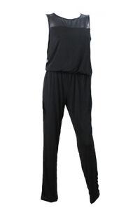 Inc International Concepts Black Sleeveless Illusion Jumpsuit M