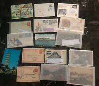 Fantastic 16 Worldwide Belgium Russia Etc Used Postcards Collection Lot MXE