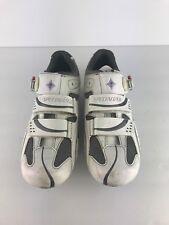 Specialized BG Spirita White Leather Road Bike Cycling Shoes US 9 EU 40 GREAT