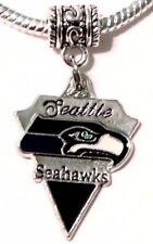 Seattle Seahawks Dangle Pendant Charm for European Charm Bracelet or Necklace*,