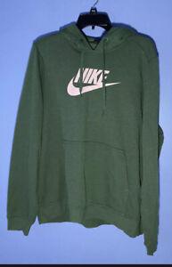 RARE SIZE XXL Nike Women's Hoodie Sweatshirt Green Pink DO7012-323