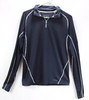 Fitness Gear Wicking Active Top Womens Medium 1/4 Zip Long Sleeve Shirt