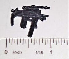 BIN B14 G I JOE Accessory      Black Sub Machine Gun SMG      (2003 Agent Faces)