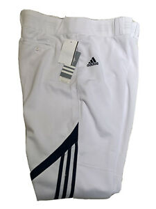 Adidas Women's 2XL Diamond Queen White W/Stripe Softball Pants w/Belt Loops NWT