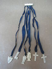 Antique Bible Victorian Bible Bookmark With Bone Markers & Original Silk Ribbons