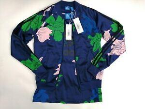 Adidas Originals Navy Floral Superstar SST Track Jacket AZ6312 & Tank UK6 BNWT
