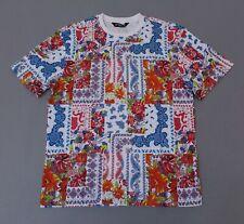 Rebel Minds Men's Short Sleeve Floral Bandana T-Shirt SC4 White Size 3XL NWT