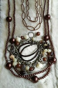 Bronze Coloured Jewellery Lot