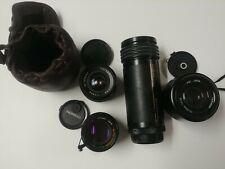Vintage Japan camera lens lot chinar 28mm chinon 50mm tamron 70-210mm sima 100mm
