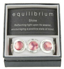 Equilibrium White Silver Disc Bracelet With Pink Stones Brand New In Box 49208