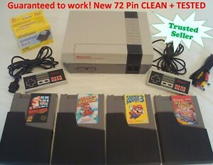 Nintendo NES REFURBISHED Console System Games Super Mario 1 2 3 Double Dragon