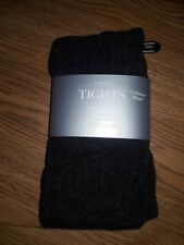 Nordstrom Luxury Tights Cashmere Blend Charcoal Size Medium