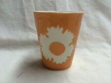 Partylite- Orange floral votive holder