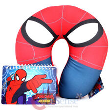 Spiderman Neck Rest Pillow Travel Cushion Car Airplane Accesory with Note