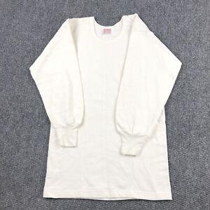 Vintage 80s womens Crew Neck sweatshirt Size Large LILY Wool Cotton Blend White