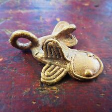 African Ashanti Ghana Cast Brass Coiled Mud Fish Catfish Gold Weight Pendant