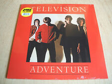 television   adventure  2017 4men with beards gold vinyl lp   mint / sealed