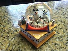 Walt Disney 101 Dalmatians Cruella De Ville snow Globe glitter musical song used