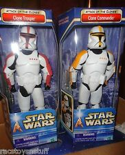 """STAR WARS AOTC  CASE OF 12"""" CLONE TROOPERS, RED AND YELLOW HIGHLIGHTS, UNOPEN"""