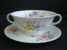ROYAL DOULTON ARCADIA SOUP COUPE AND STAND 1ST QUALITY