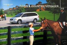 2003 Chrysler Town & Country/Voyager new sales brochure