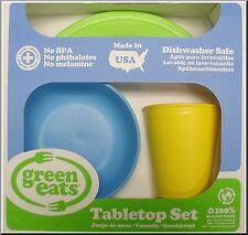 GREEN TOYS - GREEN EATS TABLETOP SET (PLATE, BOWL & TUMBLER) - ECO-FRIENDLY
