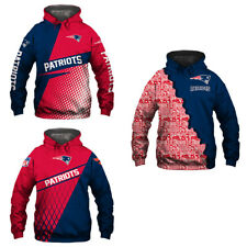 New England Patriots Hoodie Hooded Pullover COAT S-5XL Football Team Fan's Gift