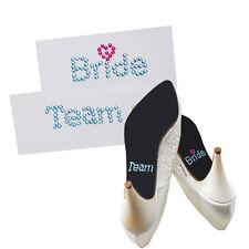 """Schuhsticker  """"Team Bridge"""" 5 Stk. Schuh Aufkleber, Aufkleber Brautschuhe - blau"""