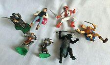 7 Plastic Action Play Figures Knights Prince Fantasy Centaur Power Ranger