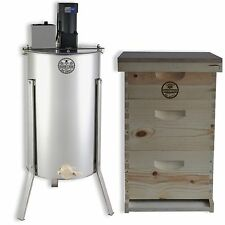 3 Tier Bee Hive Kit Electric 2 Frame Honey Extractor Frames Cover Gl-E2M-2Bk1Sk