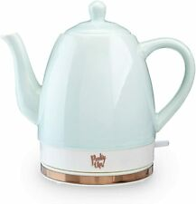 Pinky Up Ceramic Electric Tea Kettle Fast-Boiling Hot Water Heater 1.5 L, Mint