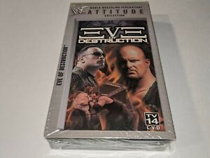 *NEW* WWF EVE OF DESTRUCTION Wrestling VHS Video Attitude Collection Matches+